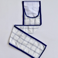 Deluxe Royal Blue Polyester Check Tailbag